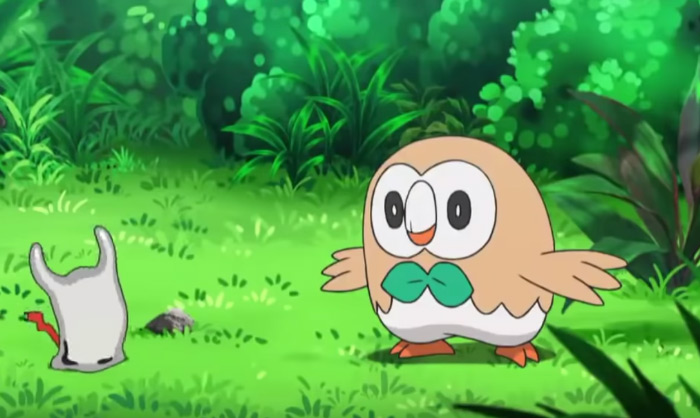Rowlet happy anime screenshot