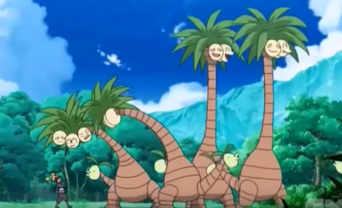 Alolan Exeggutor tall necks anime
