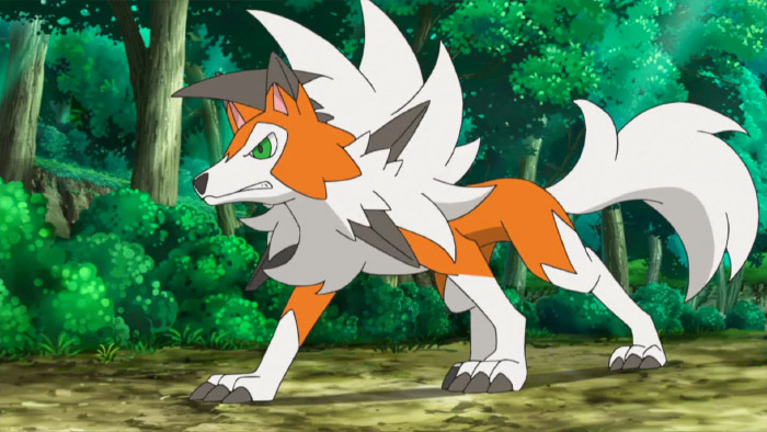 Lycanroc anime wolf monster
