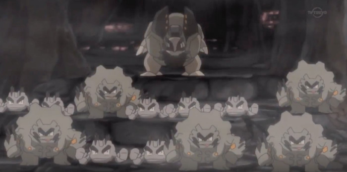 Golem and graveler alolan style from anime
