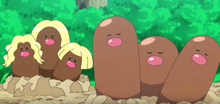 Dugtrio from alolan anime
