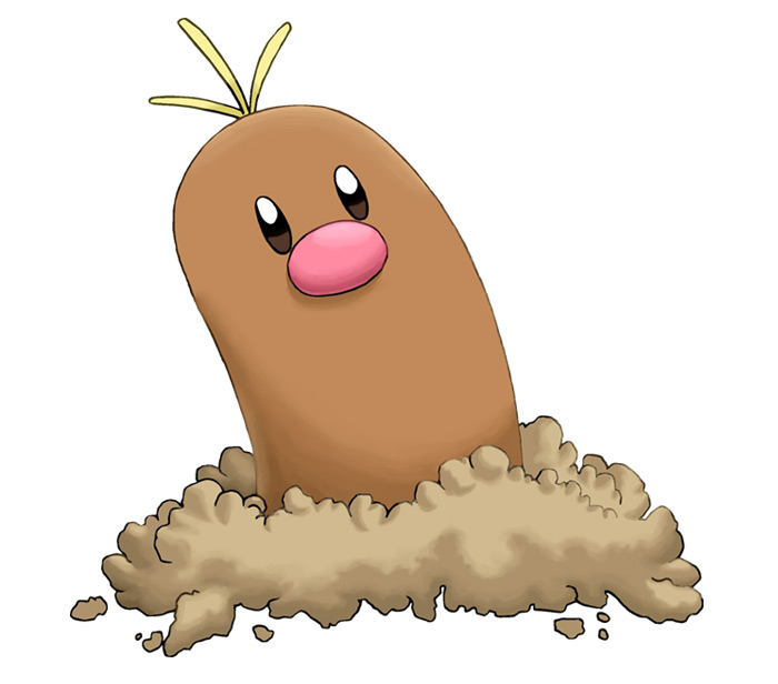 Simple alolan diglett design