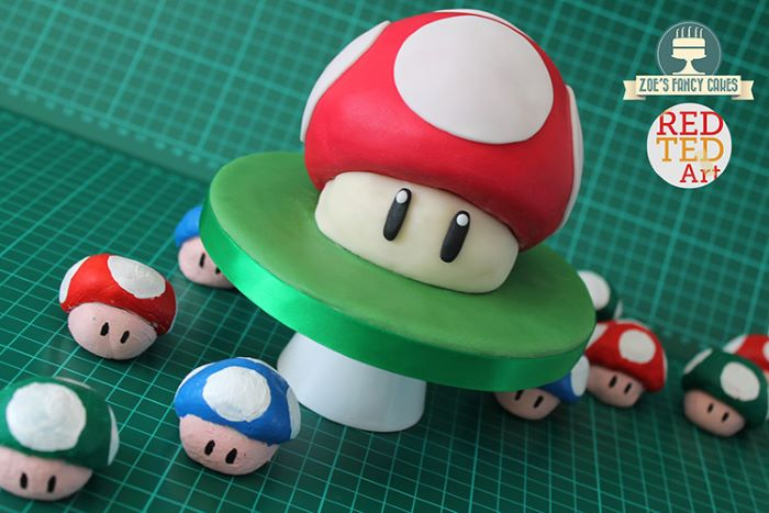 Mario mushroom cake