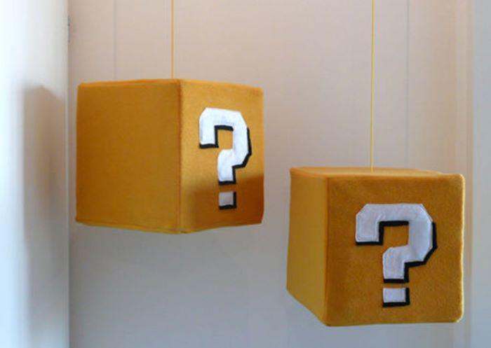 Super mario question box desgin plush with sound