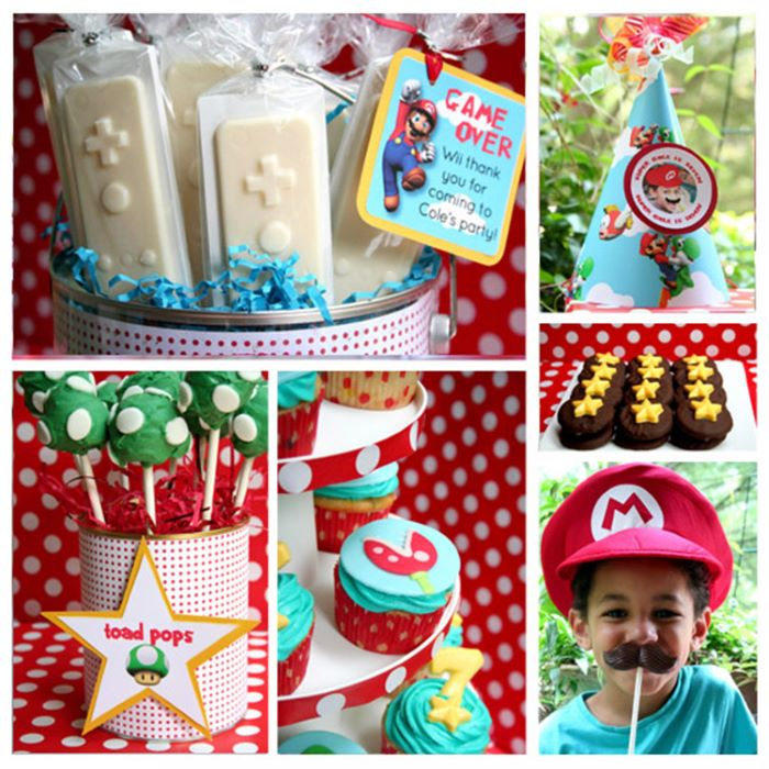 Super mario themed party supplies
