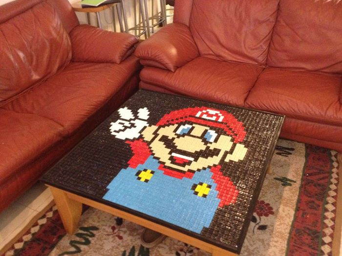 Super mario themed table cover