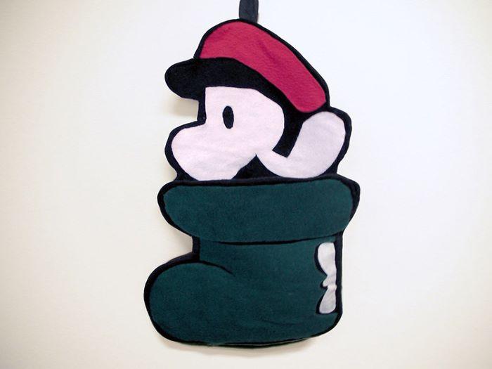Mario design shoe stocking