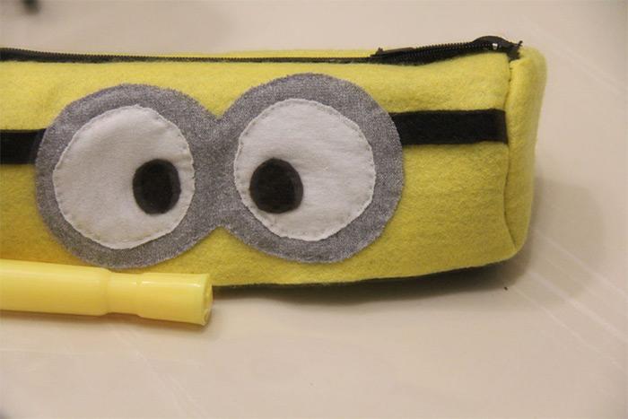Minion pencil case diy