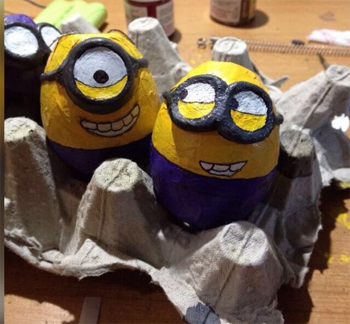 Egg minion crafts