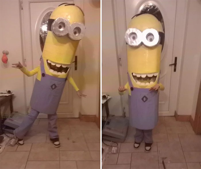 Tall minion costume diy