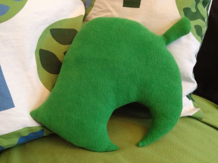 Animal Crossing leaf pillow
