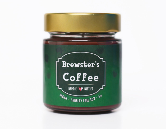 Brewsters coffee candle design