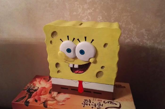 SpongeBob penny box piggy bank diy