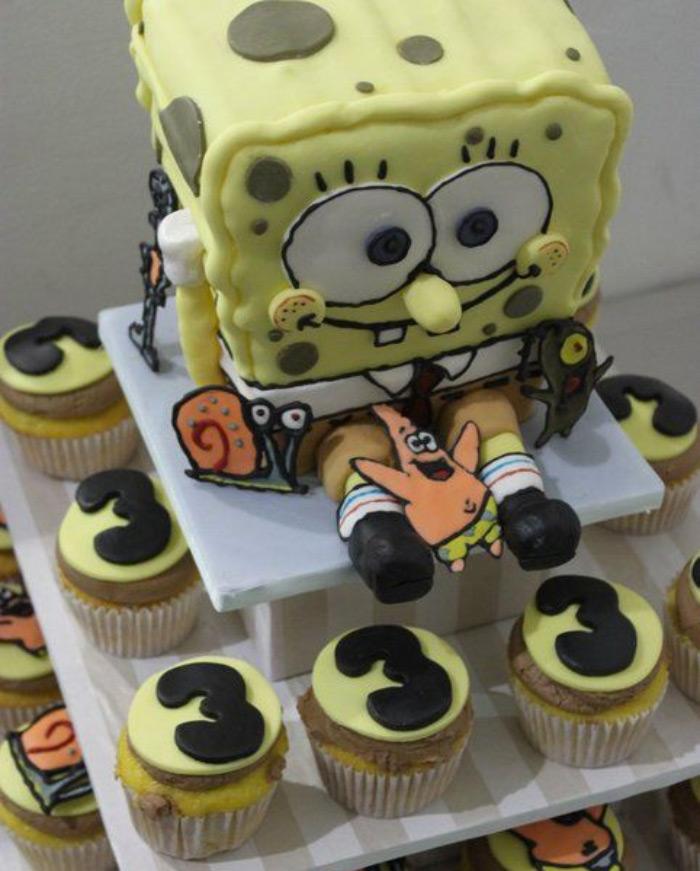 3D SpongeBob cake diy
