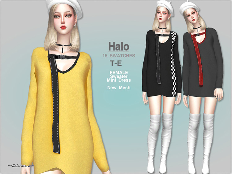 HALO Sweater Dress - cute designed CC TS4