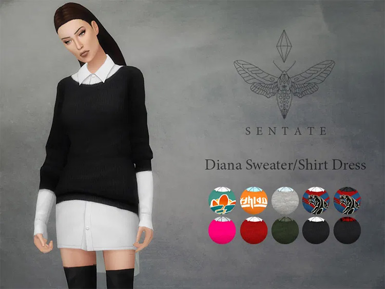 Diana Sweater Black underdress TS4 CC