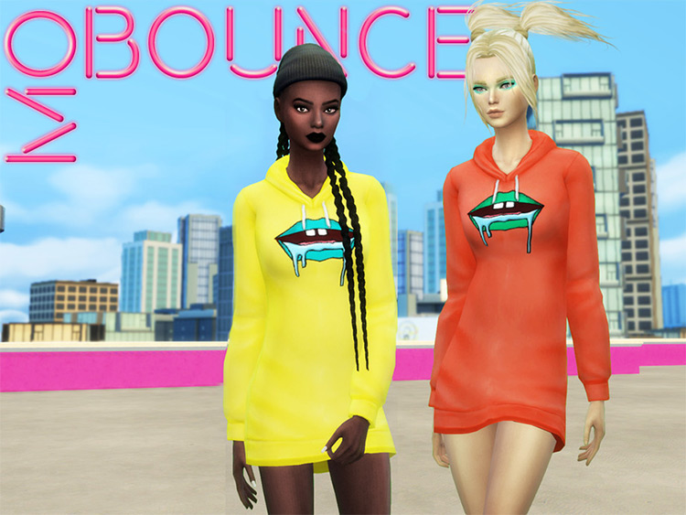 Mo Bounce - street-style sweater dress CC for TS4