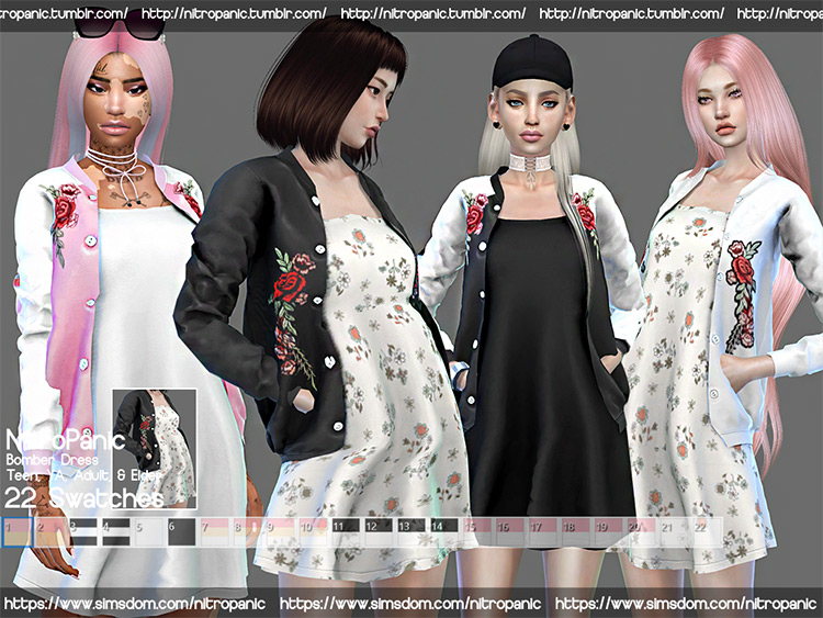 Flowy sundresses, various styles - Sims 4 CC
