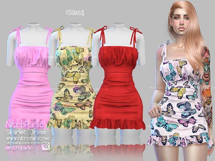 Skarlet more skimpy sundresses - realistic style TS4 CC