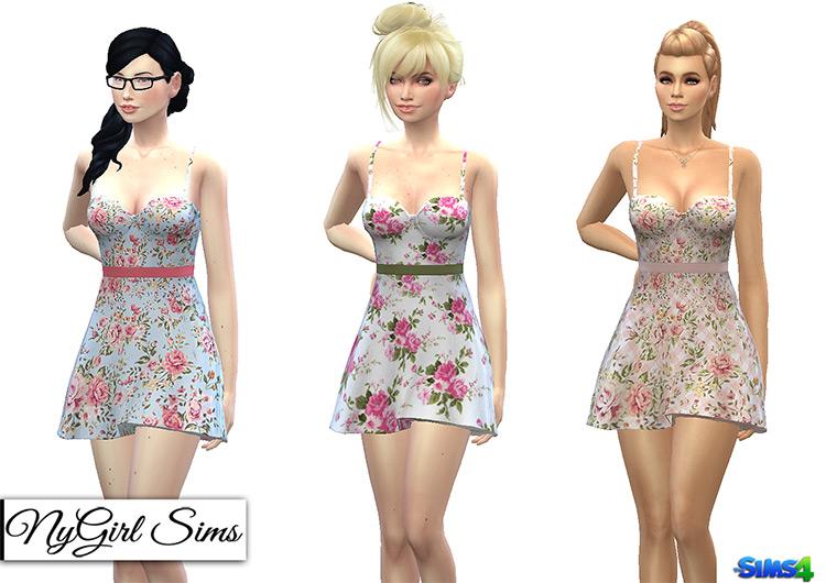 Flared short sundresses - Sims 4 CC
