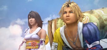 Yuna and Tidus on a boat - FFX HD Screenshot