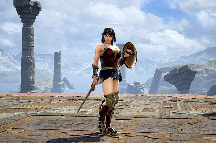 Wonder Woman mod in Soulcalibur 6