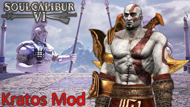 Kratos character mod in Soulcalibur 6