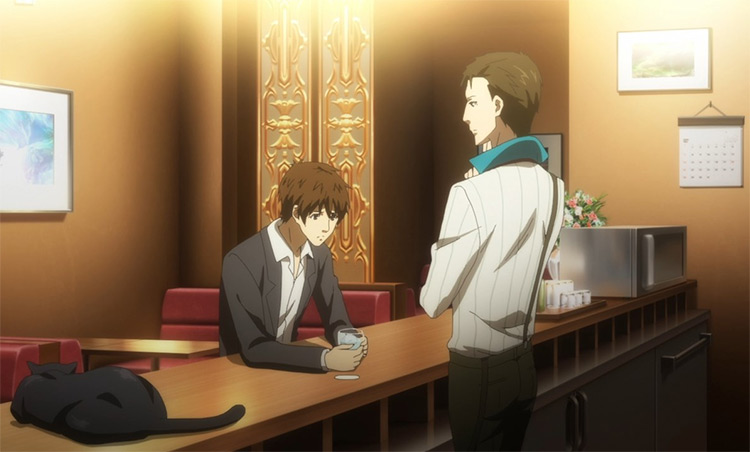 Jiro Tanaka tending bar - Hakata Tonkotsu Ramens Anime Screenshot