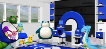 Blue kids room study - Pokemon themed Sims4 CC preview