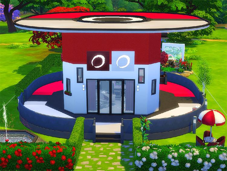Poké ball Custom House Lot - Sims 4 CC