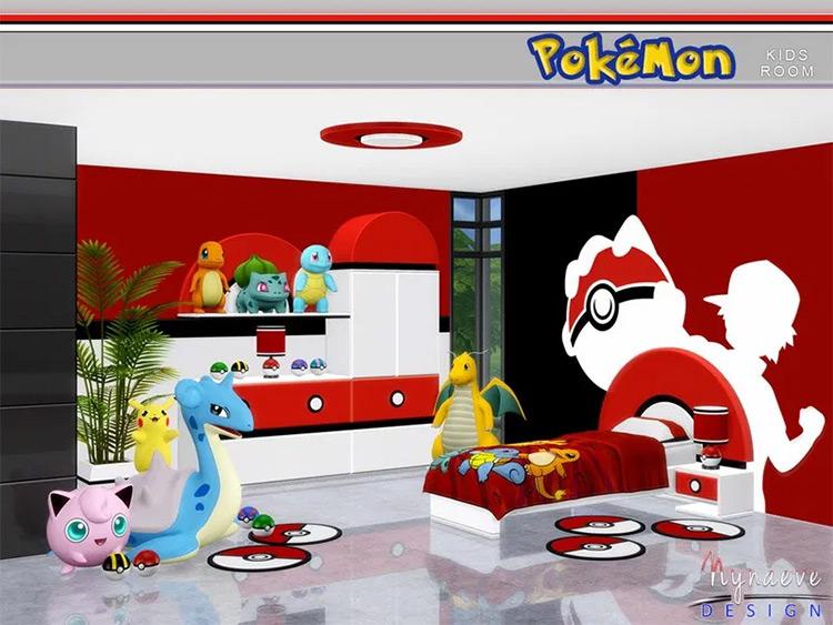Pokémon Kids Room Furniture - Sims 4 CC