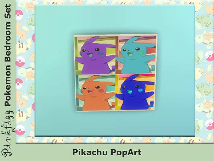 Pikachu Pop Wall Art - Sims 4 CC