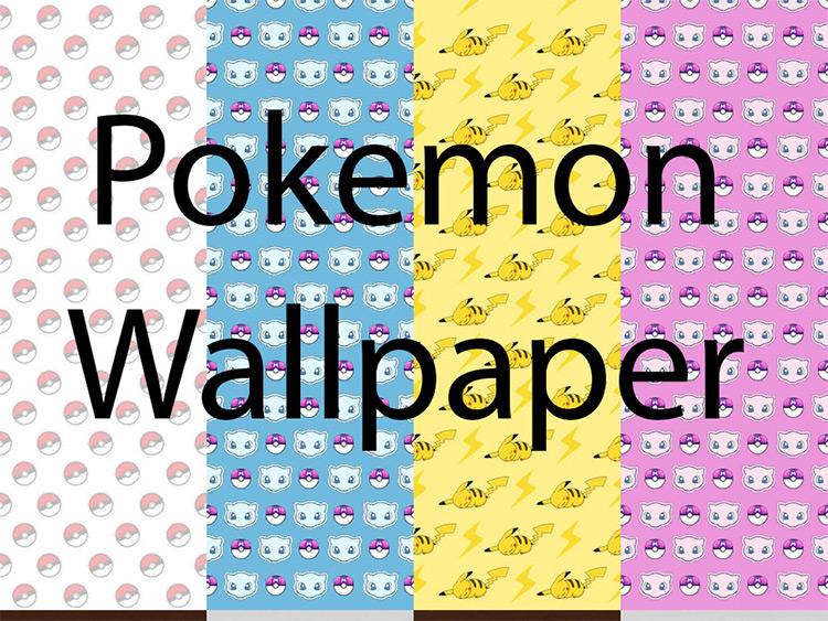 Pokémon Wallpaper - Sims 4 CC