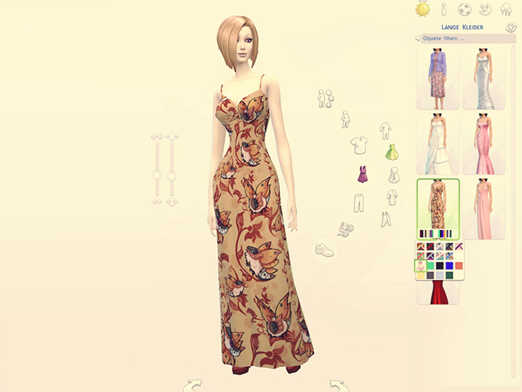 Volcarona Dress outfit - Sims 4 CC