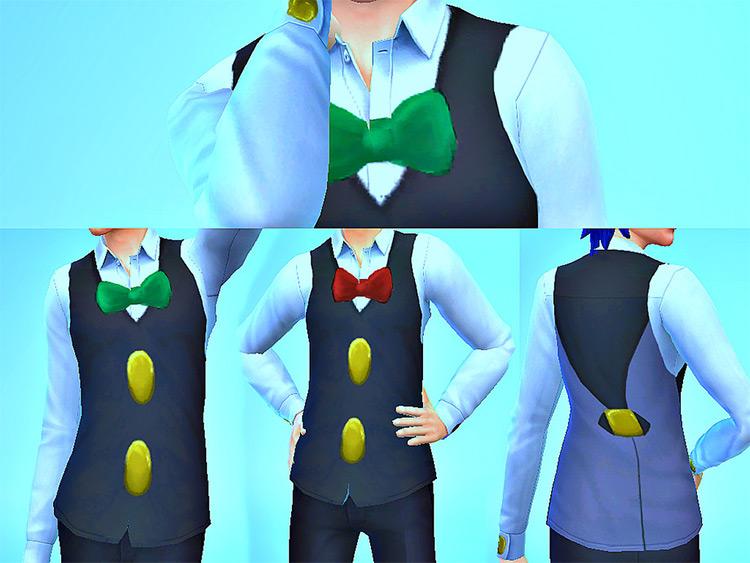 Striaton Trio Vests - Sims 4 CC