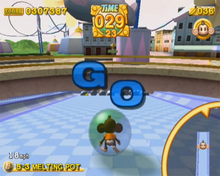 Super Monkey Ball 2 GameCube 2002 Screenshot