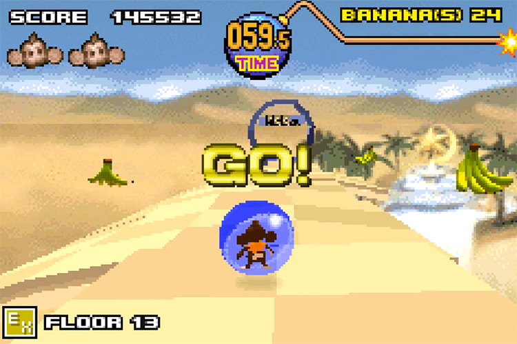 Super Monkey Ball Jr GBA Screenshot
