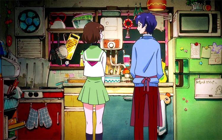 Mawaru Penguindrum in the kitchen, anime screenshot