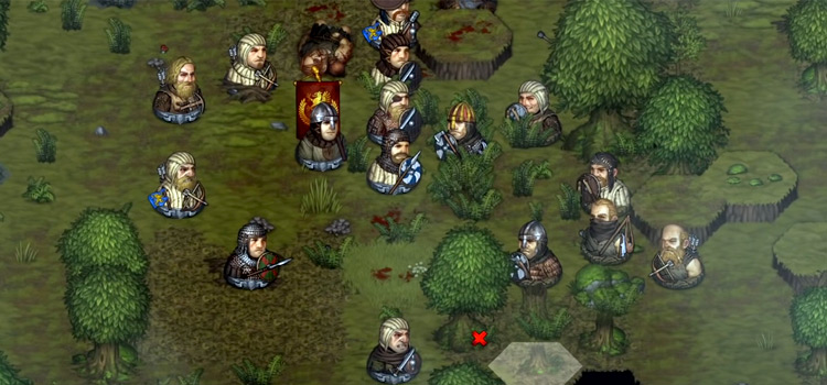 Battle Brothers - Grassy Landscape screenshot of gameplay