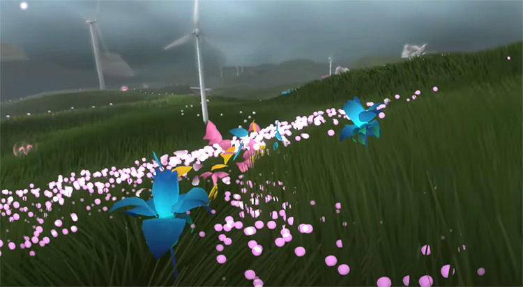 Flower video game screenshot