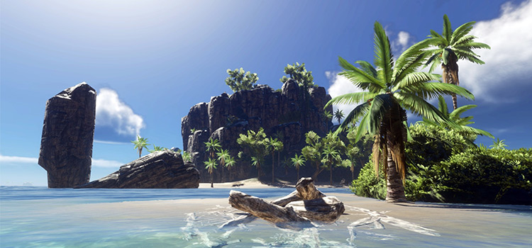 Island map modded for Stranded Deep - HD Preview