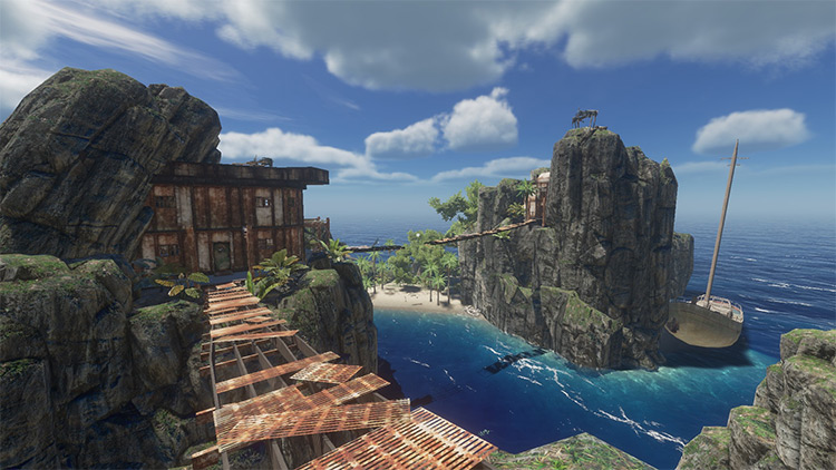 High Tide Fortress Stranded Deep mod screenshot