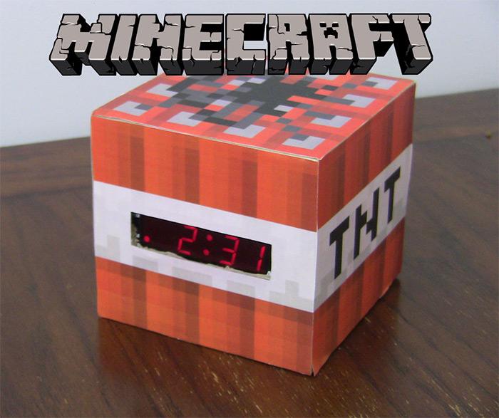 tnt minecraft clock diy project