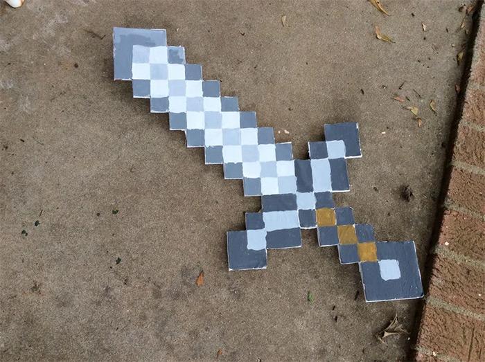 Minecraft sword handmade diy