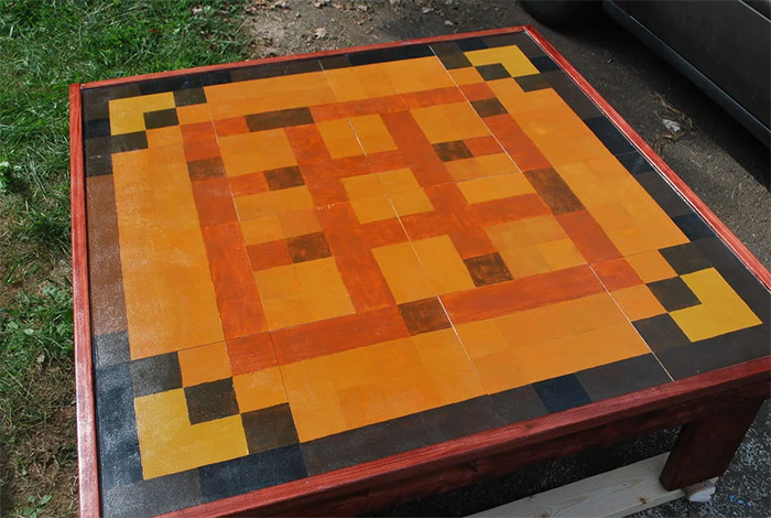 diy minecraft coffee table woodworking