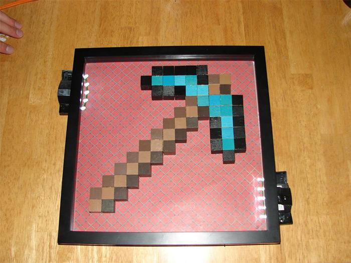 Minecraft pickaxe diy