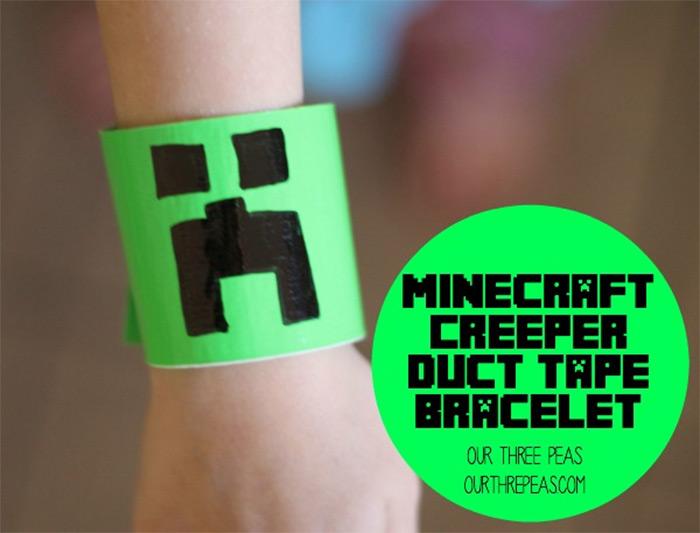 Creeper duct tape bracelet diy
