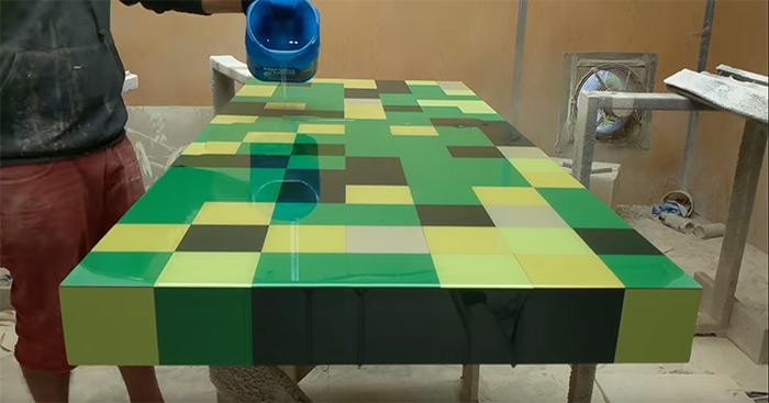 Custom desk minecraft theme