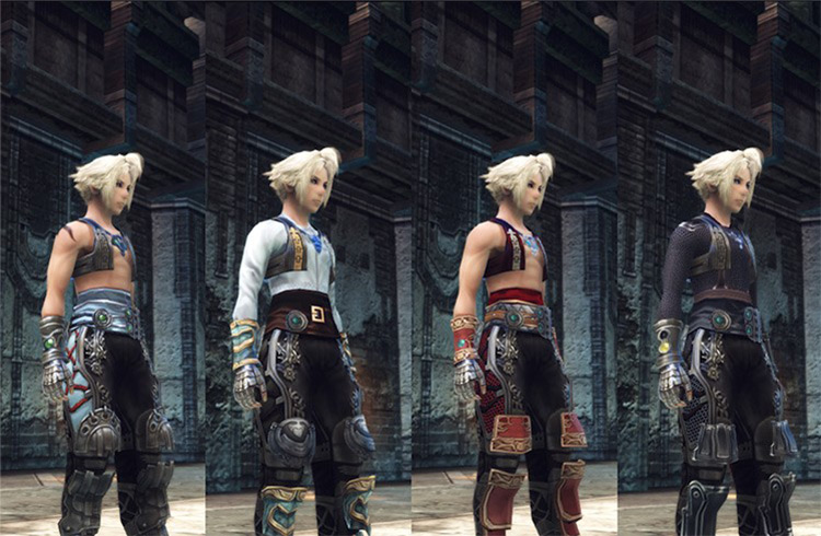 Vaan Reskins in different outfits - FFXII Zodiac Age