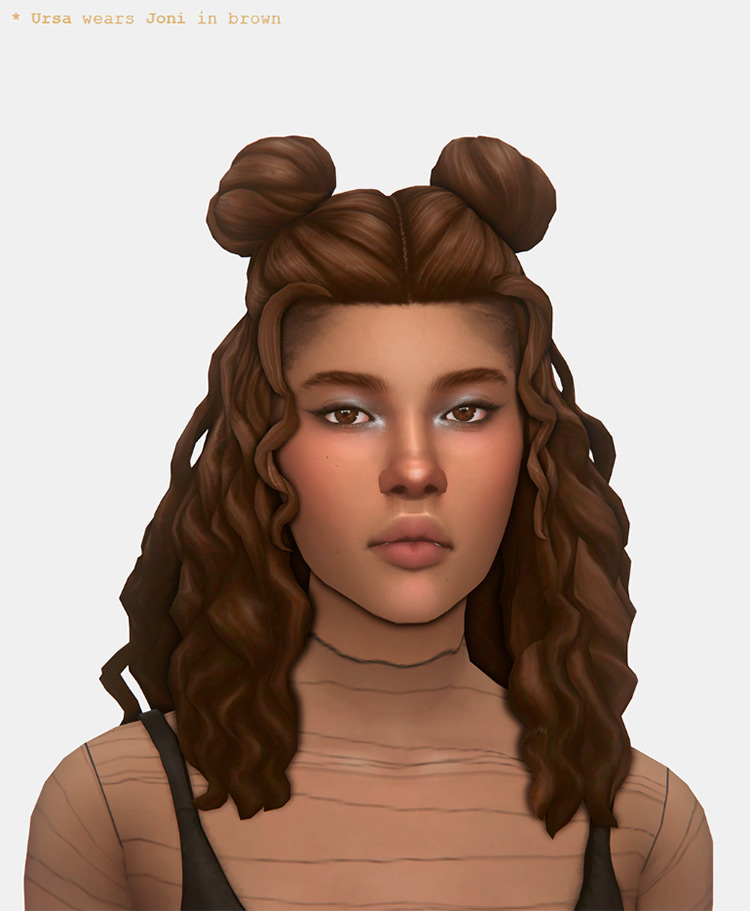 Joni hair CC - Sims 4